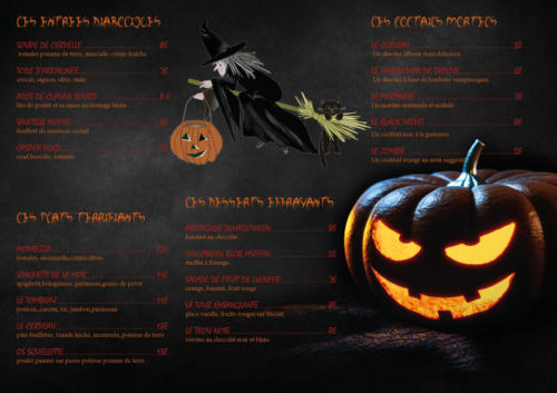 SET DE TABLE HALLOWEEN