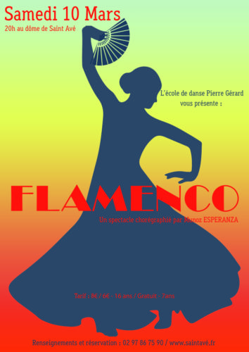 Affiche spectacle de danse flamenco